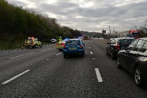 Emergency services at the scene. Picture: John