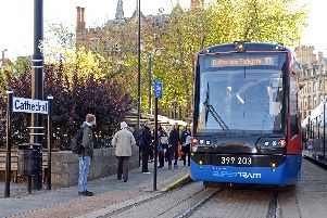 The tram-train service launched in October.