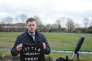 Det Chief Insp Mark Oughton, pictured with a jumper identical to the one Alena was wearing on the night she was murdered. Picture: Sam Cooper / The Star
