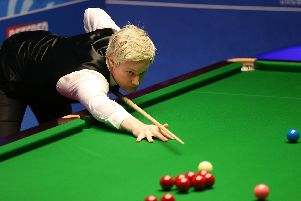 Neil Robertson during day one of the 2019 Betfred World Championship at The Crucible, Sheffield. Picture: Nigel French/PA Wire
