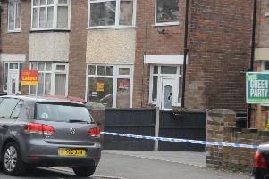 A police cordon outside Coun Mohammad Maroof's home. Picture: Sam Cooper / The Star