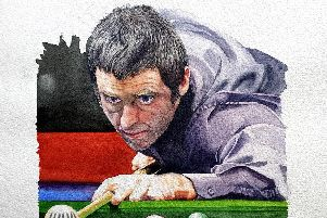 Portrait of Ronnie O'Sullivan by Brian Smith