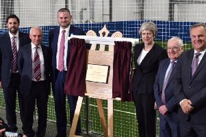 Mrs May opens the Leisure Box