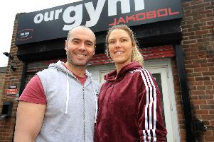 Our Gym Jakobol, Unit 3, 3 Finchwell Close, Handsworth, Sheffield. Pictured are Jake and Sarah Bonsall. Picture: Chris Etchells