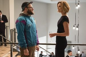 Long Shot. Pictured: Seth Rogen as Fred Flarsky and Charlize Theron as Charlotte Fields. PA.