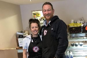 Owners of the Coffee Kennel, Neil Losada and Claire Fullwood.