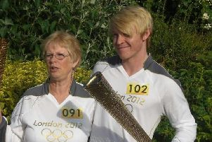 Josh was nominated to carry the torch due to his work in local schools