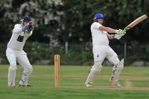 Boldon CA's batsman Carl Bellerby in action against Ushaw Moor, played at Boldon CA Sports Ground.