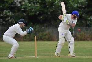 Boldon CA's batsman Carl Bellerby in action against Ushaw Moor last weekend at the Boldon CA Sports Ground.