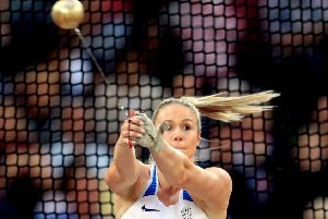 Great Britain's Sophie Hitchon in action in the Women's Hammer Final during day four of the 2017 IAAF World Championships at the London Stadium. PRESS ASSOCIATION Photo. Picture date: Monday August 7, 2017. See PA story ATHLETICS World. Photo credit should read: Adam Davy/PA Wire. RESTRICTIONS: Editorial use only. No transmission of sound or moving images and no video simulation