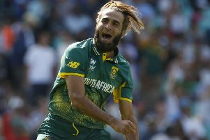 South Africa's Imran Tahir.