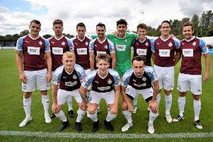 South Shields team photo ahead of the game against Southampton on Saturday.