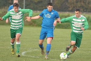Phil Wix, left, netted for Boroughbridge as they closed in on the top of the Division One table