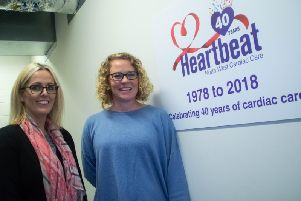 Lisa Riding (left) and Louise Bache celebrating  Preston charity Heartbeat's 40th year