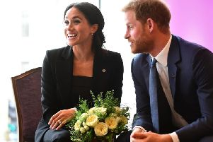 The Duke and Duchess of Sussex have announced that they are expecting a baby. Picture: PA.