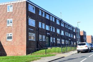 Flats in Lord Nelson Street, Tyne Dock, which are earmarked for demolition.