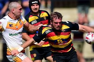 Aaron Brown in action for Dewsbury