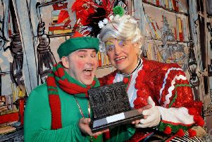 Santa's Naughty Little Elf Wayne Miller, left, and panto executive 'director Ray Spencer.