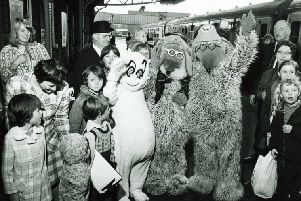 Two of The Wombles heading back home to Wimbledon in 1974. What are your memories of the litter-pickers?