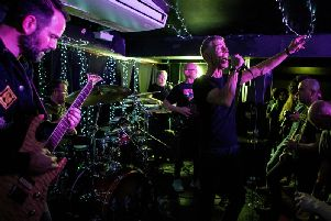Pomp rockers Saracen at the Head of Steam in Newcastle. Pic: Mick Burgess.