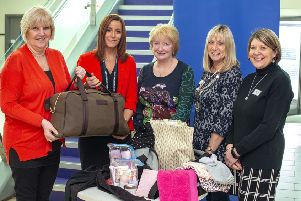 From left, Jill Smith from Newcastle Soroptimist club and Acting Superintendent Claire Wheatley, Soroptimists Kath Shearer, Judy Donnelly and Anne Gunning.