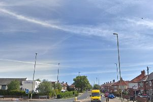 The collision happened on Prince Edward Road in South Shields. Image copyright Google Maps.