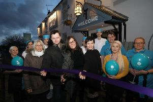 Karen Sirrell reopens the Black Bull alongside general manager Laura-Jane Dixon'Photographer/Byline Dave Charnley Photography  www.davecharnleyphotography.com