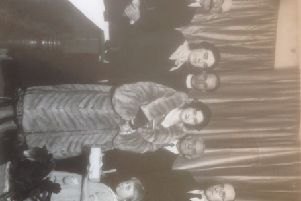 Who are the people pictured with  young Margaret Smith at this presentation ceremony? Inset, below, choosing sweets in Brockley Whins, in South Shields, in 1962. Are you pictured?