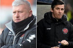 Blackpool boss Terry McPhillips and Fleetwood Town head coach Joey Barton