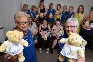 League of Friends at South Tyneside District Hospital celebrating their 70th anniversary last year. From left Dorothy Rogers and Maureen Young.