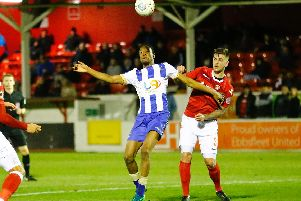 Nicke Kabamba has been a revelation for Pools, scoring five in five since arriving from Havant.