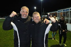 Joint managers Lee Picton and Graham Fenton.