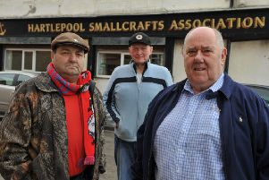 Hartlepool Smallcrafts Association directors left to right, Terry Bradley, Harry Marsh and Ron Clark.