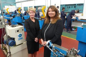 Victoria Cramman, right,  head of Career College North East, with Alison Maynard, deputy chief executive of Tyne Coast College
