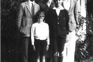 Jonty and Mary with their three sons in their backyard at Port Kembla in the early 1930's.