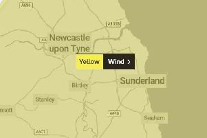 Weather warning in place for wind in the region