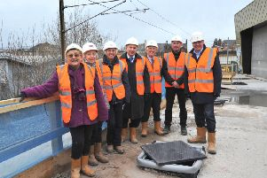 South Tyneside Council cabinet members on a trip to South Shields' new 21million transport interchange.