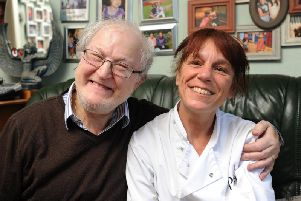 Victor Simon has been diagnosed with cancer 6 times.  Here he is pictured with his daughter Michaela Simon.