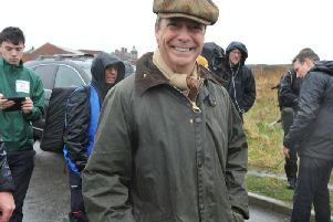 Nigel Farage at the start of the March to Leave in Sunderland.