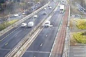 Commuters are experiencing delays on the eastbound M55 this morning after a collision involving a silver Ford Mondeo at around 7.45am.
