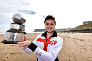Jack Bird with his silverware
