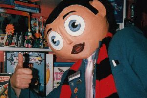Frank Sidebottom at Thunderbooks in Blackpool, one of his favourite haunts