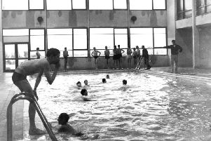 South Shields Grammar Technical School for Boys new swimming pool. in 1965.