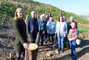Green Party co-leader Sian Berry visits North Marine Park with South Tyneside Tree Action Group