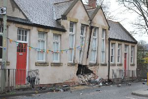 Scene of accident at All Saints Church Hall, Cleadon Village.