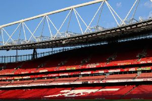 The Emirates Stadium.