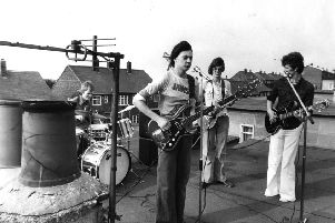 The Wolves rock groyup in action in  August 1976.