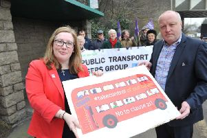 South Tyneside MPs Emma Lewell-Buck and Stephen Hepburn, front row, pictured in 2017 with Public Transport Users' Group campaigners.