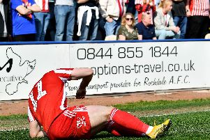 Lynden Gooch suffered a hamstring injury in the dramatic win over Rochdale.
