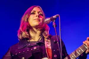 Rebecca Lovell of Larkin Poe at the Riverside in Newcastle. Pic: Mick Burgess.